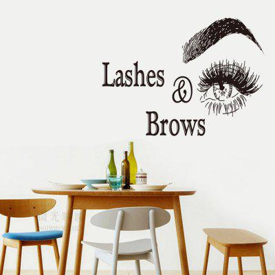 Lashes Brows Home Background Decorative Wall Sticker
