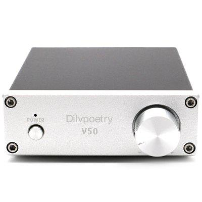 Dilvpoetry V50 Class D Power Professional TPA3116D2 Amplificador Audio Amplifier 50W HiFi Amplifiers Home Amp