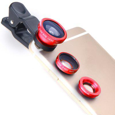 3 in 1 Wide Angle Macro Fisheye Mobile Phone Lenses Kit