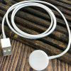USB Socket Wireless Magnetic Charger for iPhone Watch 1 / 2 / 3 Generation - WHITE