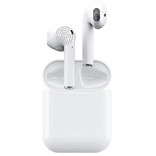 Gocomma i12 TWS Touch Control Bluetooth 5.0 Headphones with Mic Charging Case - White