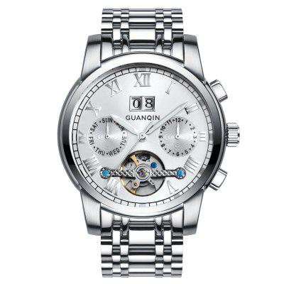 GUANQIN GJ16031 Pánská ocel Business Casual Automatic Mechanical Watch