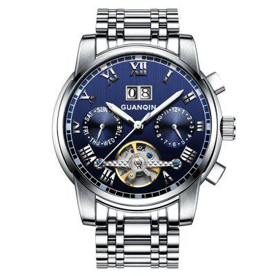 GUANQIN GJ16031 Men's Steel Business Casual Automatic Mechanical Watch