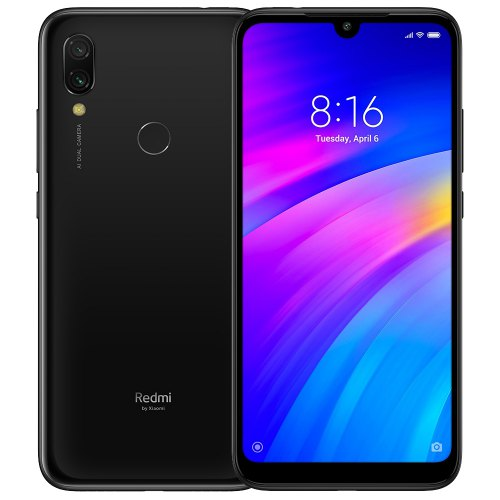 Gearbest Xiaomi Redmi 7 4G Phablet 3GB RAM Global Version - Black 32GB ROM 12.0MP + 2.0MP Rear Camera Fingerprint Sensor