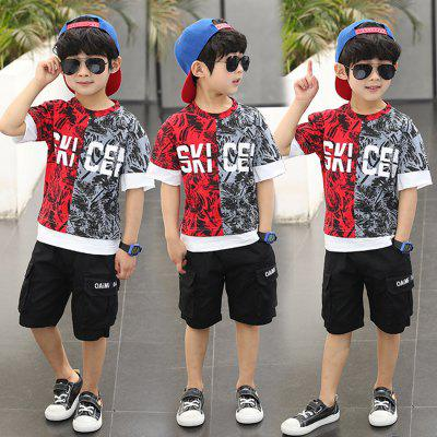 Short Sleeves T-shirt Shorts Set for Boys