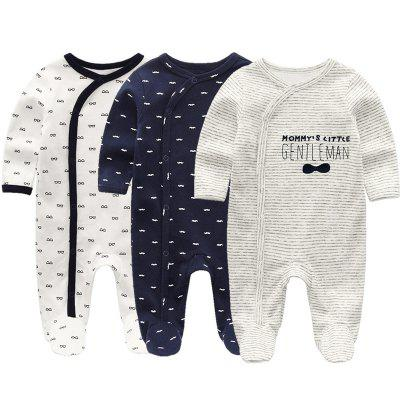 KIDDIEZOOM Baby Long Sleeve Romper 3pcs