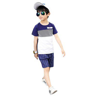 Casual Short Sleeves T-shirt Shorts Set