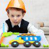 6606 - 3 Truck Building Blocks Puzzle 213PCS - MULTI-A