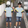HQ - 2 Boys Fashion Casual Trend Contrast Set - PAPAYA ORANGE