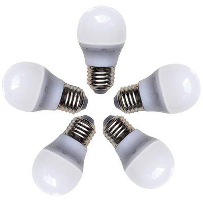 Bulbo 5pcs / pack do diodo emissor de luz do consumo baixo de G45 4W E27