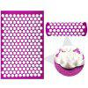 Lotus Spike Yoga Back Massager Acupuncture Pad - PURPLE