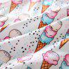 3283 Summer Girls Ice Cream Print Sleeveless Skirt Suit - MULTI