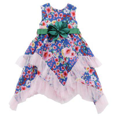 Girl Personality Flower Printed Long Dress