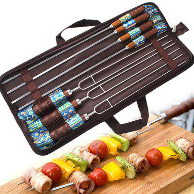 Brochettes de barbecue en plein air 7pcs