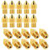 0.4mm 1.75mm 3D Printer Brass Nozzle for CR10 10S Ender 3 Anet A8 Z10M2 Alfawise U20 U30 5pcs - GOLD