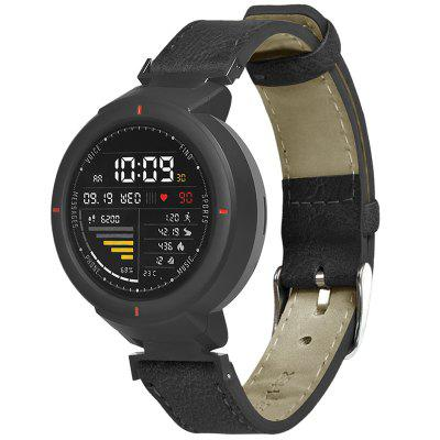 TAMISTER Retro Flat Head Strap with Switch Raw Ear for AMAZFIT Verge Watch 3