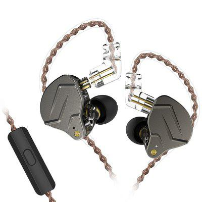 Фото - KZ ZSN pro Quad-core Moving Double Circle Headphones kz zst x earphones circle iron headphones inflator hifi headset tape microphone call game headphones