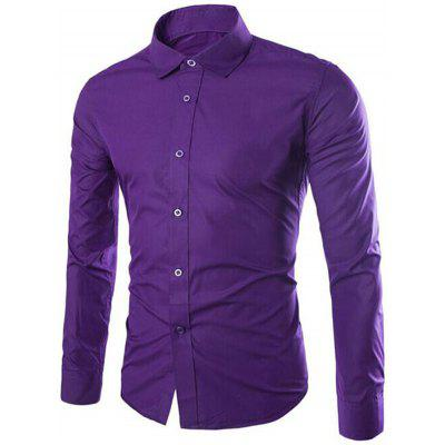 1501 - 6492 Men's Business Casual Solid Color Shirt