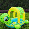 Turtle Boat Swimming Ring Children Summer Outdoor Play Water Toys - GREEN