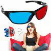 Sport Frame Red Blue 3D Storm Glasses - NERO