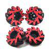 Omnidirectional AGV Mecanum 48mm Robot Wheels 4pcs - ROSSO RED