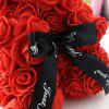 Cute Crown PE Rose Bear Romantic Valentine Day Decoration - RED