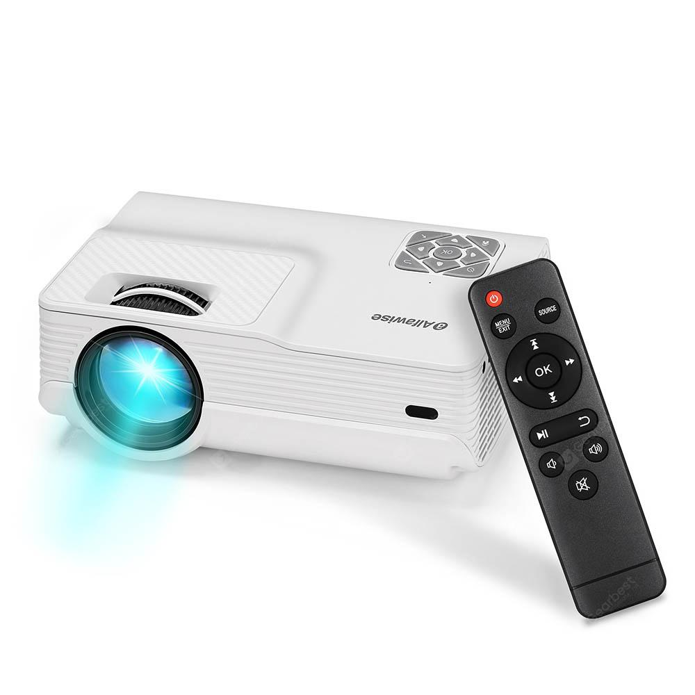 Alfawise A13 2800 Lumens LCD Full HD Projector 1080P Support - White EU Plug
