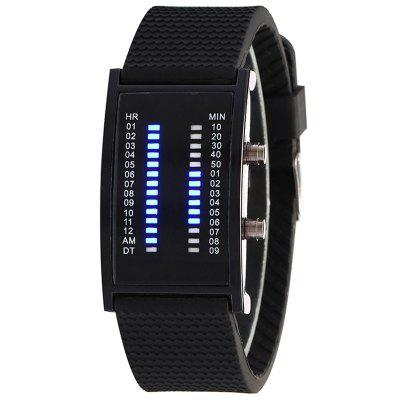 Blu-ray Double Row Light LED reloj electrónico