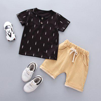 Boy Short Sleeve Suit