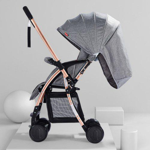 Ultra-Light Portable Folding Can Sit Reclining Baby Umbrella Child Baby Stroller Meen Two-Way Stroller Color : Leopard Print Two-Way