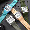 LED Electronic Waterproof Watch Fashion Sports Multifunction Camouflage Couple - DEEP PEACH