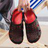 Male Summer Jelly Hole Shoes - RED