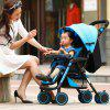 wisesonle A6 High View Four-wheeled Stroller for Baby - APRICOT