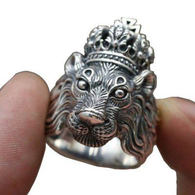 Male Personality Crown Lion King Ring