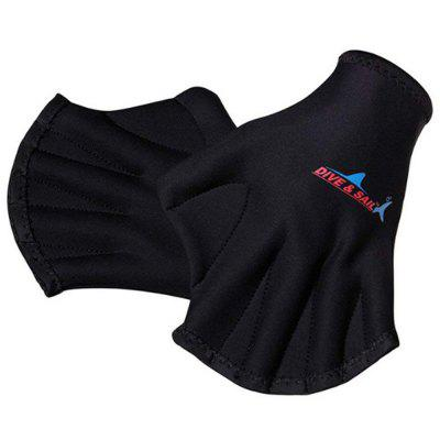 Surfing Swimming Web-footed Fingerless Diving Gloves 1 Pair