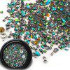 Nail Drill Crystal Sand Rhinestone Combination - GREENISH BLUE