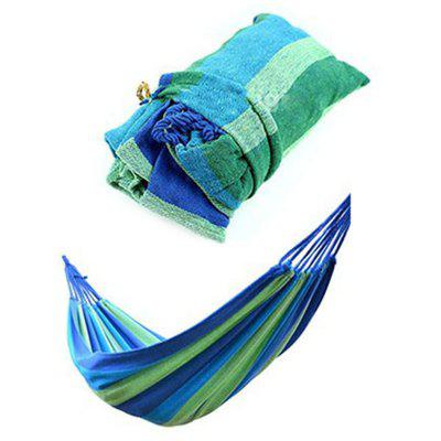 Portable Outdoor Garden Hammock Sports Home Travel Camping Swing Canvas Stripe Hang Bed
