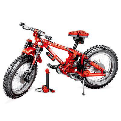 703302 Technology Series Machinery Mountain Bike Kinder Puzzle Baustein Spielzeug