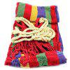 Portable Outdoor Garden Hammock Sports Home Travel Camping Swing Canvas Stripe Hang Bed - VALENTINE RED