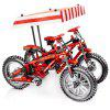 703302 Technology Series Machinery Mountain Bike Kinder Puzzle Baustein Spielzeug - ROT