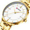 CURREN Male Waterproof Slim Quartz Watch - GOLD