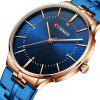 CURREN Male Waterproof Slim Quartz Watch - BLUE