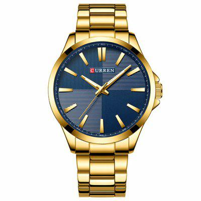 CURREN Men's Waterproof Large Dial Watch