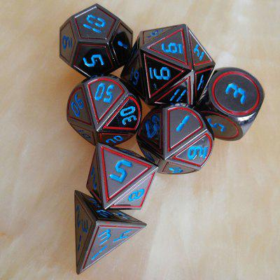 Board Game Auxiliary Props Metal Dice 7pcs