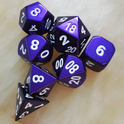 Game Auxiliary Props Metal Dice 7pcs