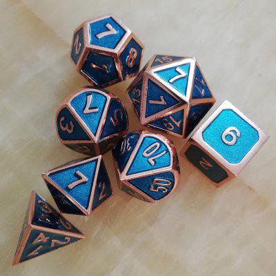 Classic Game Auxiliary Props Metal Dice 7pcs