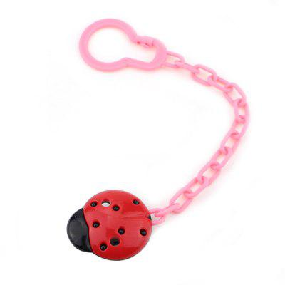 Durable Fixed Clip Safety Lovely Ladybug Baby Pacifier Chain
