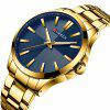 CURREN Men's Waterproof Large Dial Watch - BLUE