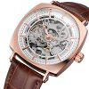 FORSINING Men's Machinery Fashion Multicolor Watch Case - BROWN