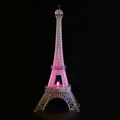Valentine's Day Romantic Illuminated Eiffel Tower Colorful Night Lights Creative Decoration